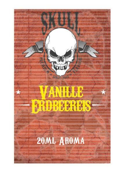 Skull - Vanille-Erdbeereis Aroma 20ml