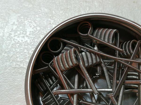Fine Fused Clapton V2A 3 mm Handmade Coils